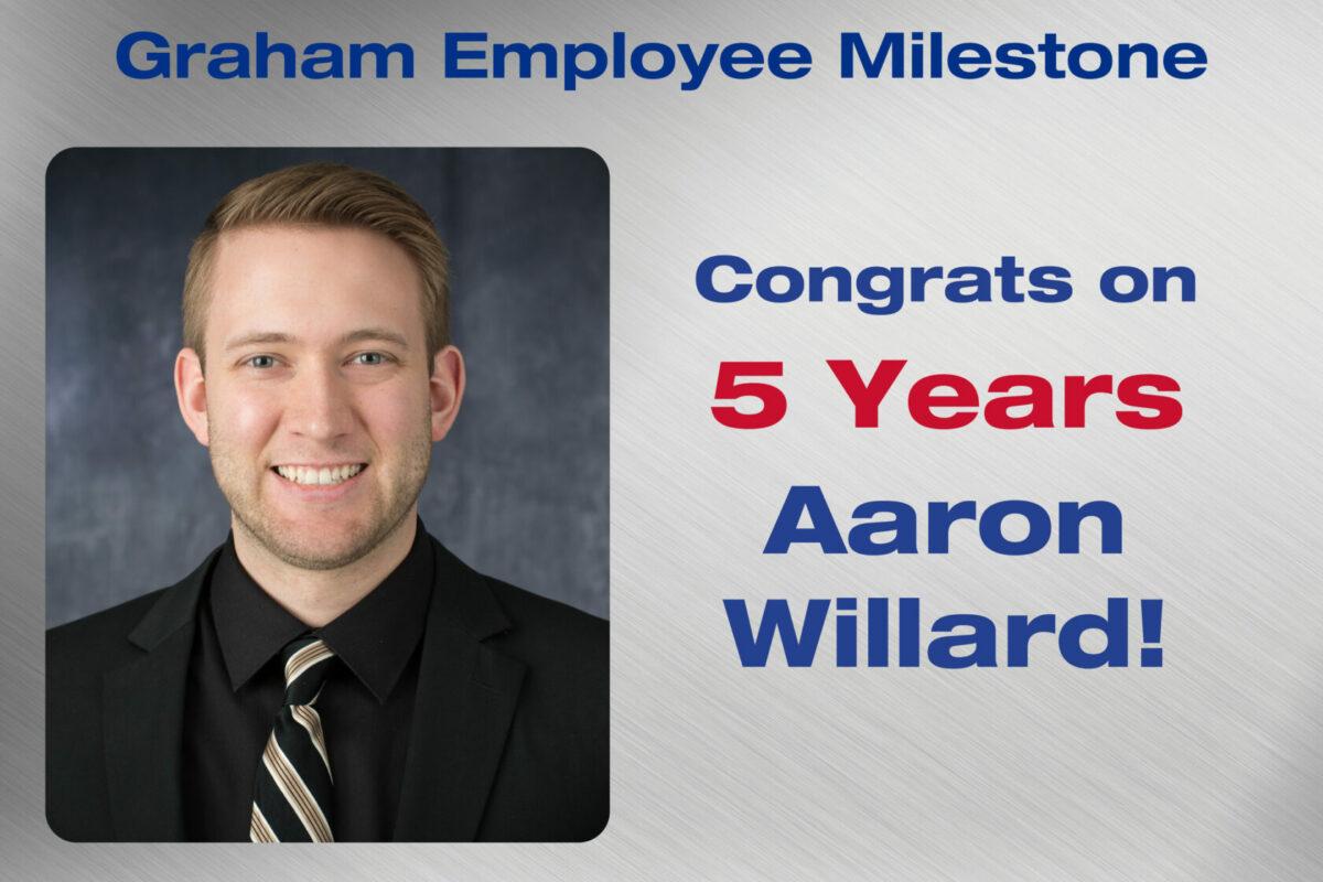 Aaron Willard Employee Milestone