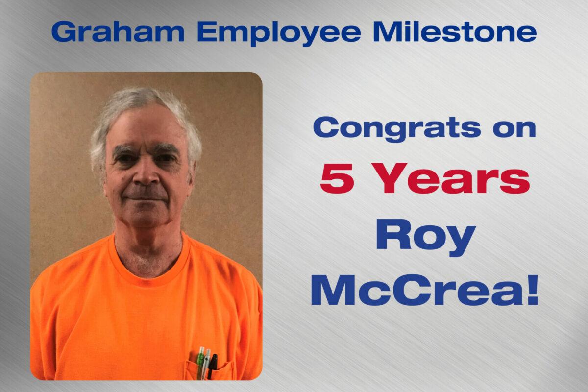 Roy McCrea Employee Milestone
