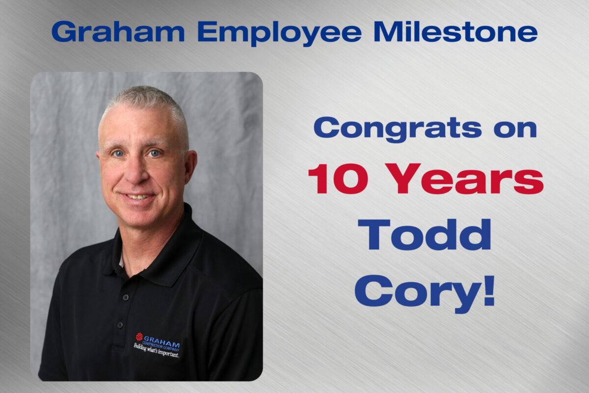 Todd Cory Employee Milestone