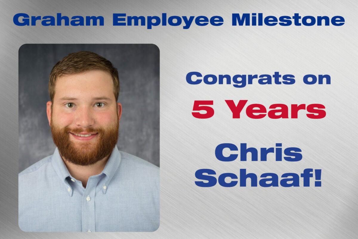 Chris Schaaf - 5 Years